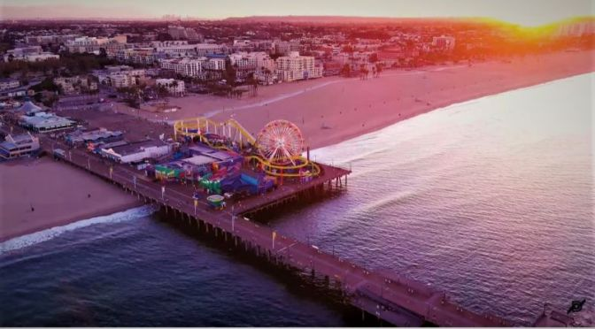 Aerial Travel: 'Santa Monica, California' (Video)