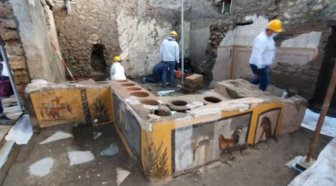 Roman History: 'Street Food Shop' Discovered In Pompeii Excavation (Video)
