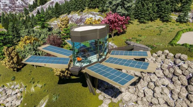 Futuristic Homes: Solar-Powered Sustainable  Mountain Pod (Video)