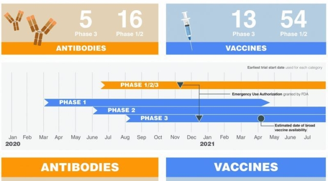 Covid-19 Infographic: One-Year Progress Of Treatments & Vaccines