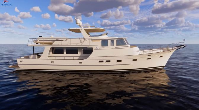 Boat Design: The 'All-New Fleming 85' – State Of The Art Cruising Yacht (Video)