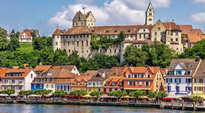 Walking Tour: 'Meersburg' On Lake Contance In Southwestern Germany