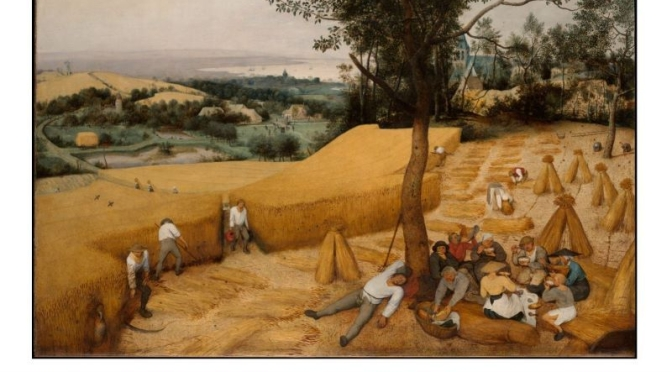 Artwork: 'The Harvesters' By Dutch Renaissance Painter Pieter Bruegel The Elder, 1525-1569 (Video)