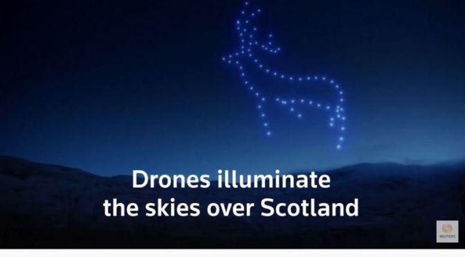 Night Views: Breathtaking Drone Display Illuminates Sky In Scotland (Video)
