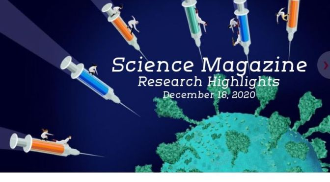 TOP JOURNALS: RESEARCH HIGHLIGHTS FROM SCIENCE MAGAZINE (DEC 18, 2020)