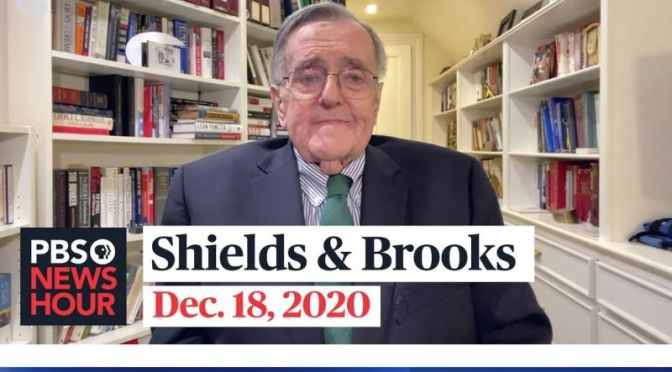 Political News: 'Shields & Brooks' On Politics As A Noble Profession (Video)