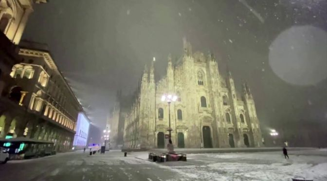 Winter 2020 Travel: Rare Snowfall In Milan, Italy