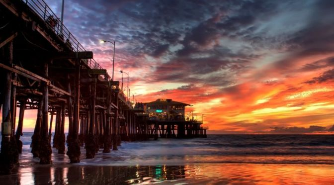 Walking Tours: Sunset At The Santa Monica Pier In Los Angeles, CA (Video)