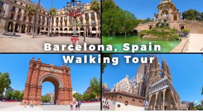 Walking Tour: 'Barcelona' – Northeast Spain (Video)