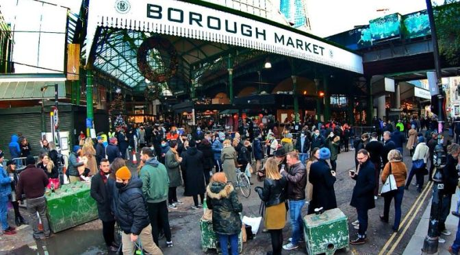 Walking Tour: 'Borough Market' In London (Video)