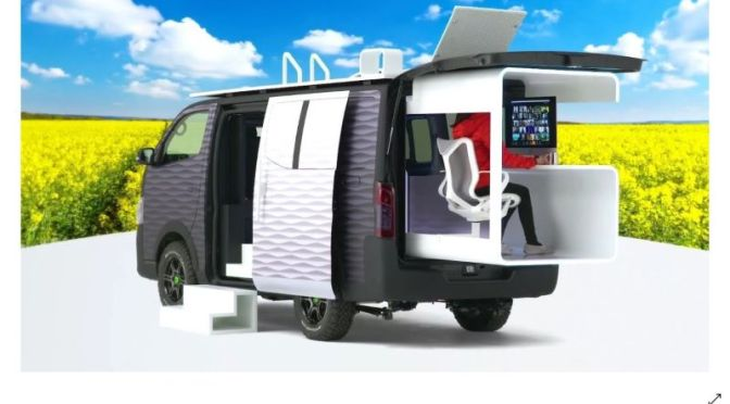 Work Innovation: '2021 Nissan Office Pod Van'