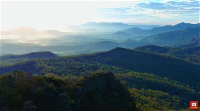 Aerial Landscapes: Mount Mitchell In Queensland, Australia (HD Video)