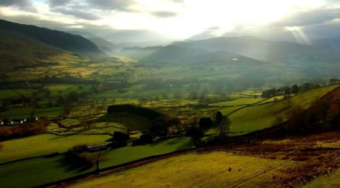 Aerial Travel: 'Threlkeld – Lake District', Cumbria In Northern England (Video)