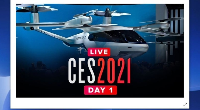 Technology: Opening Day 'CES 2021' – Online Demos Of Consumer Electronics