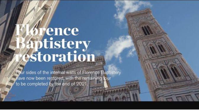 Travel & Architecture: 14th Century Florence Baptistery Restoration