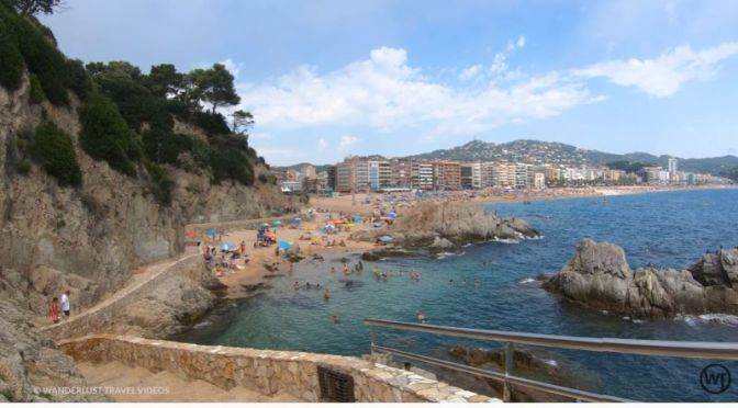Walks: 'Lloret De Mar Beach', Costa Brava, Spain