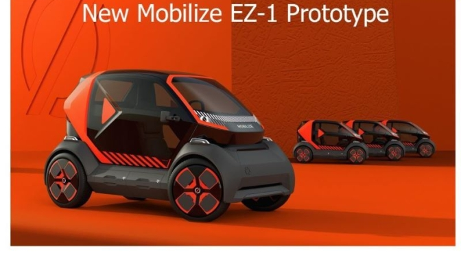 Electric Vehicle: 'Mobilize EZ-1 Prototype By Renault'