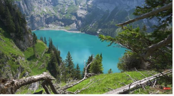 Hikes: 'Oeschinensee Lake' In The Bernese Oberland, Switzerland (4K Video)