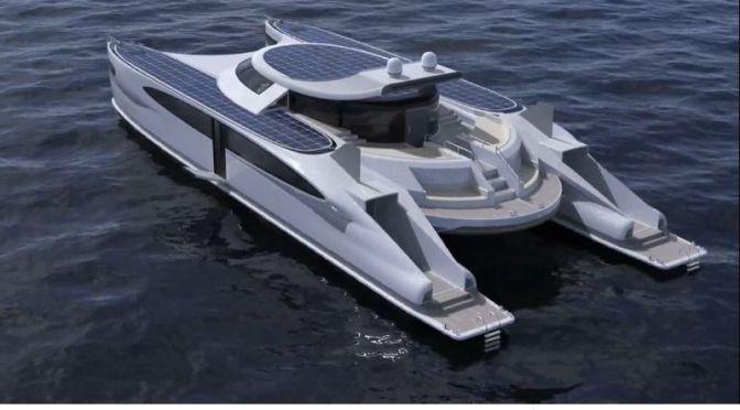 Design: 'PAGURUS' – Solar-Powered Amphibious Catamaran By Lazzarini