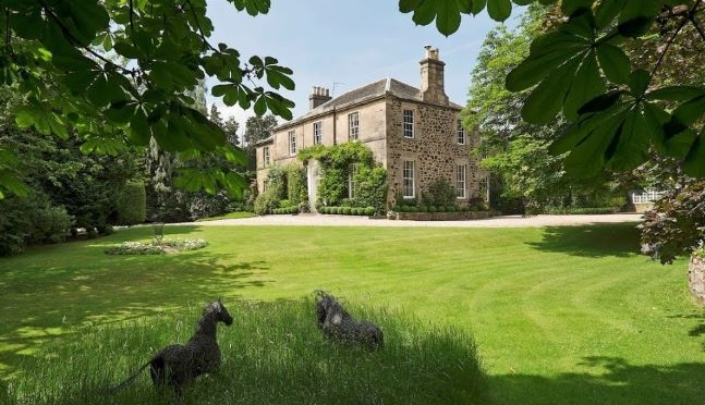 Scotland Estate Tour: Georgian Manor With Gardens In Edinburgh