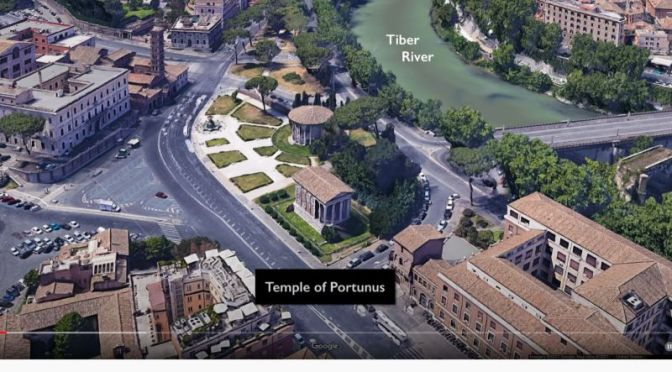 Ancient Architecture: 'Temple Of Purtunus' In Rome, Italy (4K Video)