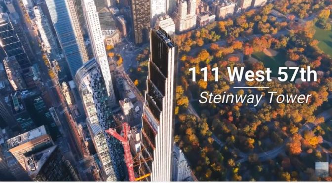 Aerial Views: 'Steinway Tower' – 111 West 57th Street In New York City