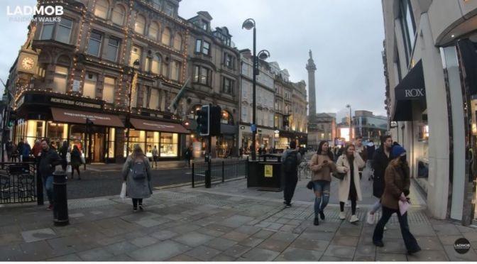 Walks: 'Newcastle upon Tyne', England (4K Video)