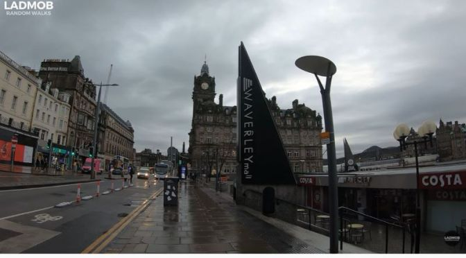 Walking Tours: Waverley Train Station Area Of Edinburgh, Scotland