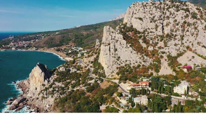 Aerial Views: The 'Crimea Peninsula' – Coastal Landscapes (4K Video)
