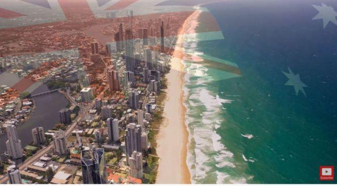 Aerial Views: Gold Coast, Brisbane, Australia (4K)