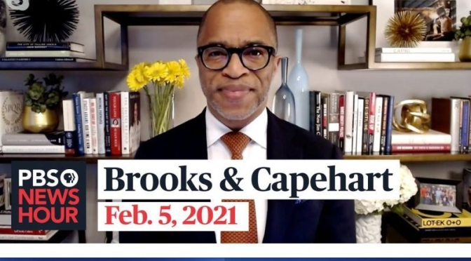 Political News: 'Brooks & Capehart' On Tensions In GOP, Biden's RElief Plan