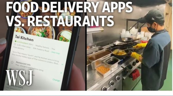 Analysis: 'Food Delivery Apps vs Restaurants' (WSJ)