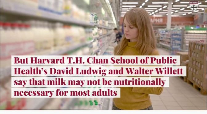 Healthy Diets: Milk Not Nutritionally Necessary For Most Adults (Harvard)