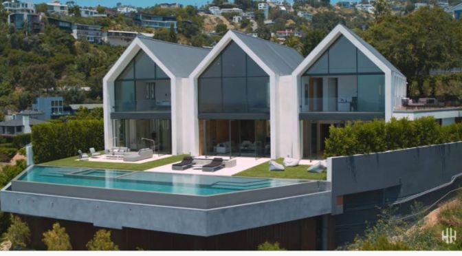 Tours: Minimalist Modern Farmhouse – Hollywood Hills, California (Video)