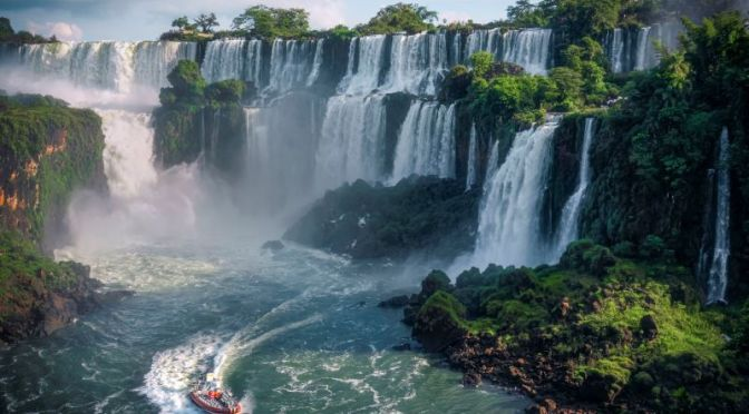 Rainforest Views: 'Hotel Das Cataratas' At Iguassu Falls In Brazil (HD Video)
