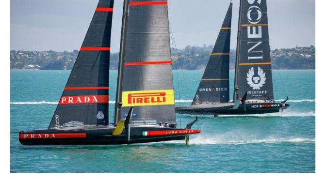 Sailboat Racing: Luna Rossa Italy Tops UK INEOS In Prada Cup (Video Recap)