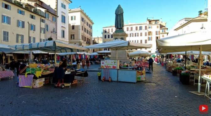 Walking Tours: Campo De' Fiori In Rome (4K Video)