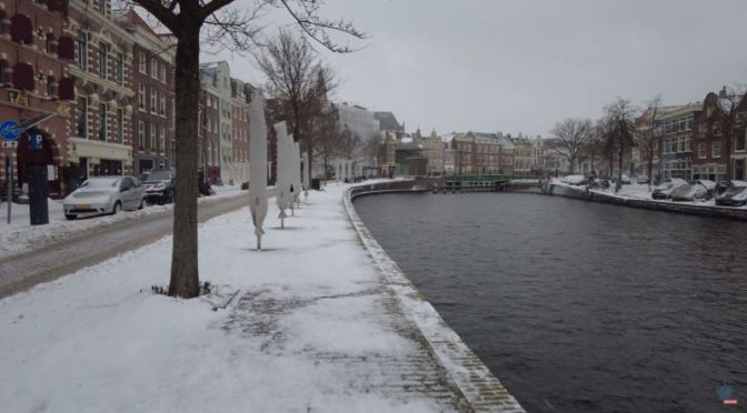 Walks In Snow: 'Haarlem – Netherlands' (4K Video)