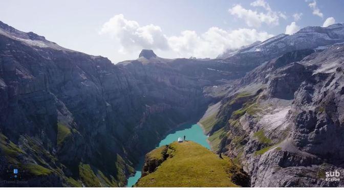 Aerial Mountain Views: 'Swiss Alps' (4K UHD Video)