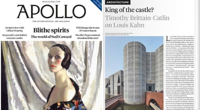 International Art: 'Apollo Magazine – March 2021'