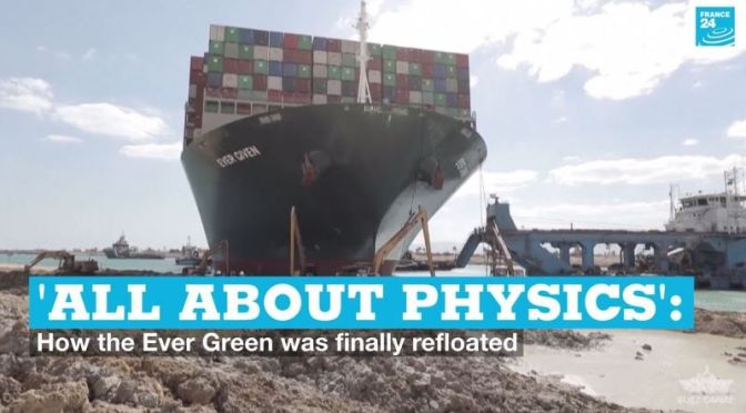 Analysis: How 'Physics' & Rising Tides Freed Cargo Ship In The Suez Canal