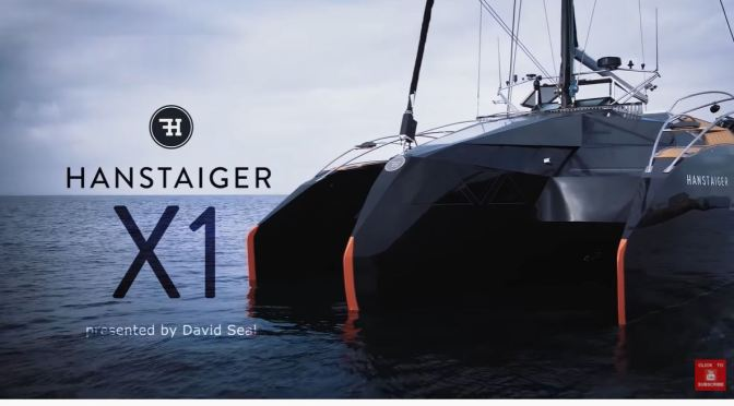 Future Of Sailing: The 'Carbon Fibre Trimaran – Hanstaiger X1' (Video)