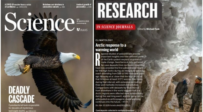 TOP JOURNALS: RESEARCH HIGHLIGHTS FROM SCIENCE MAGAZINE (MAR 26, 2021)