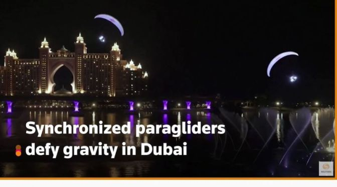 Views: 'Synchronized Paragliders In Dubai'