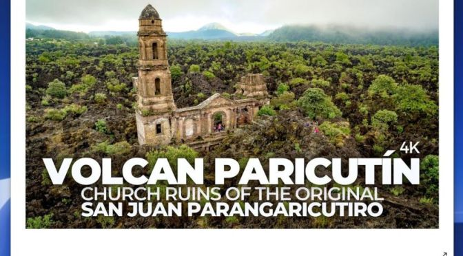 Views: Parícutin Volcano Church Ruins, San Juan Parangaricutiro, Mexico