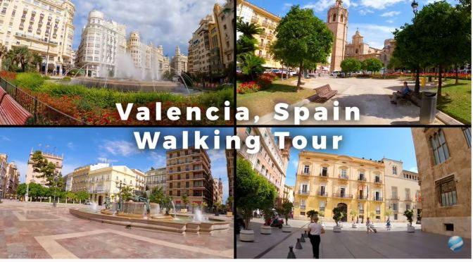 Walking Tour: 'Valencia – Southeastern Spain' (4K)