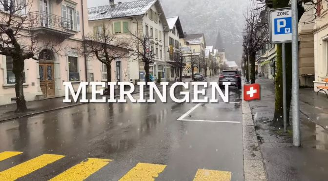 Winter Walks: 'Meiringen – Switzerland' (4K Video)