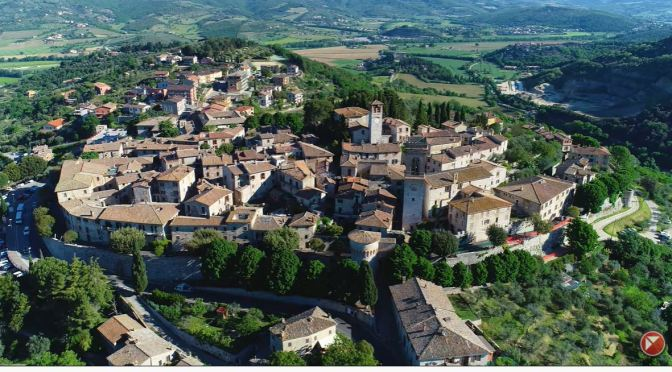 Aerial Views: Corciano – Perugia, Italy (8K Video)
