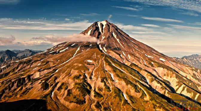 Aerial Views: Kamchatka Peninsula Russia (4K Video)