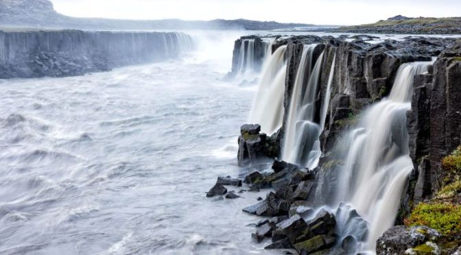 Aerial View: 'Dettifoss Waterfalls – Iceland' (4K)